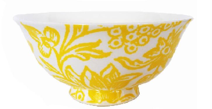 SAffron Yellow set of 4 fine bone china bowls
