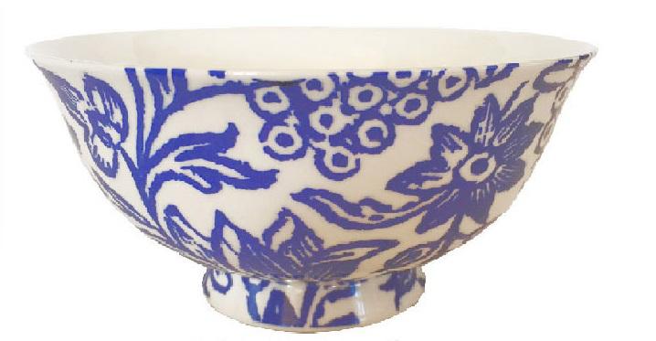 Fine Bone China Bowls in Cornflower Blue