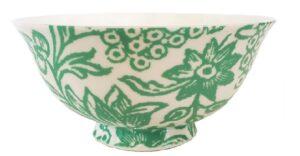 Bone China Bowls Verdigris green