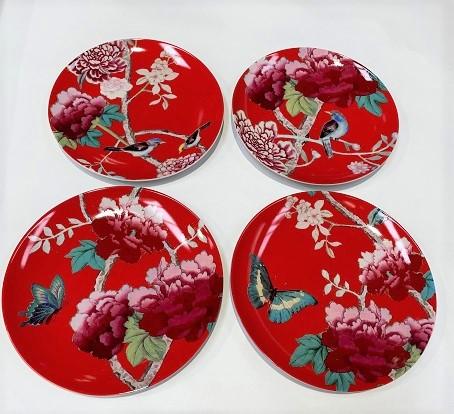 Dessert Plates Watermelon Red