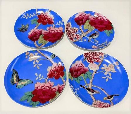Dessert Plates Cornflower blue