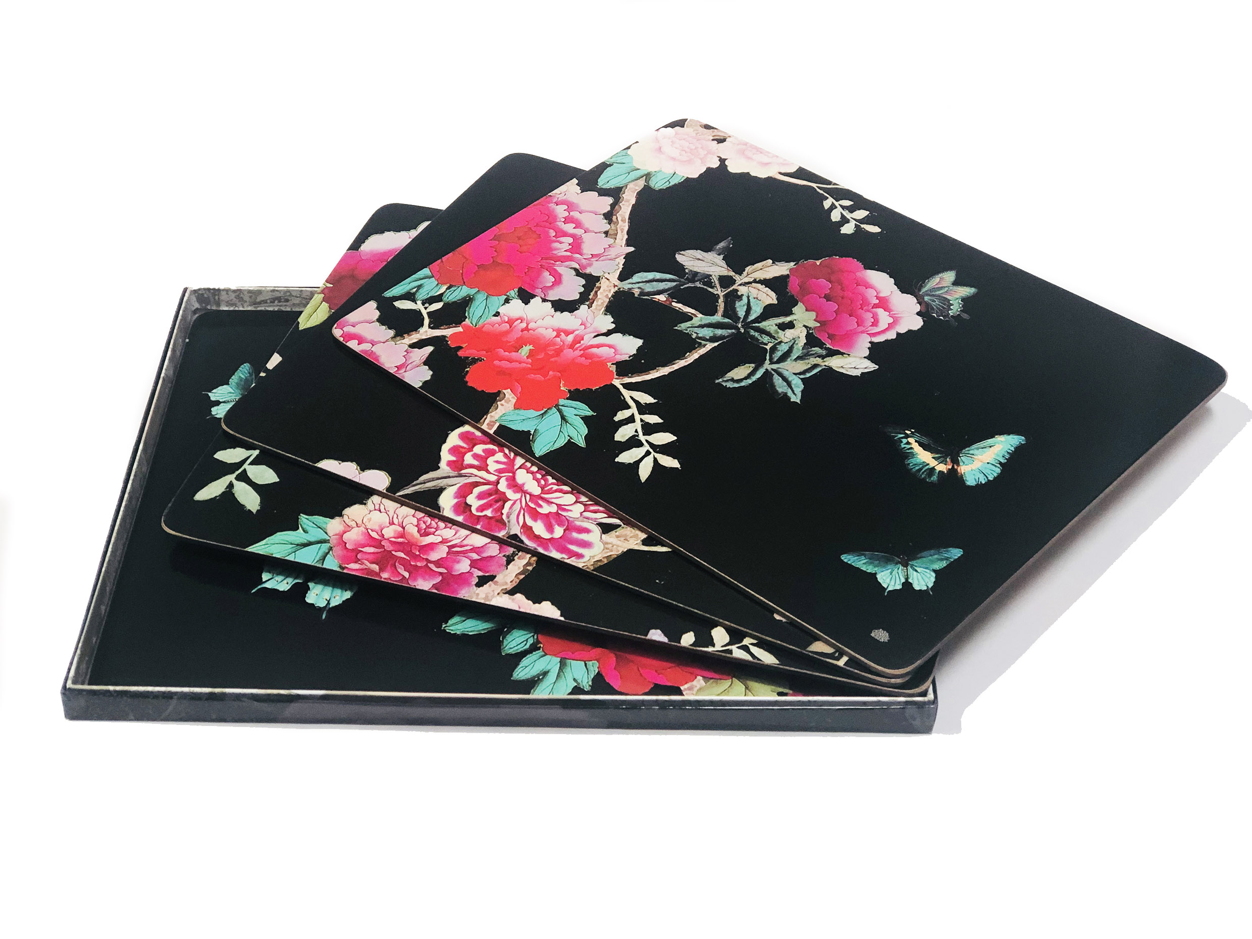 Placemats Cork Black Chinoiserie