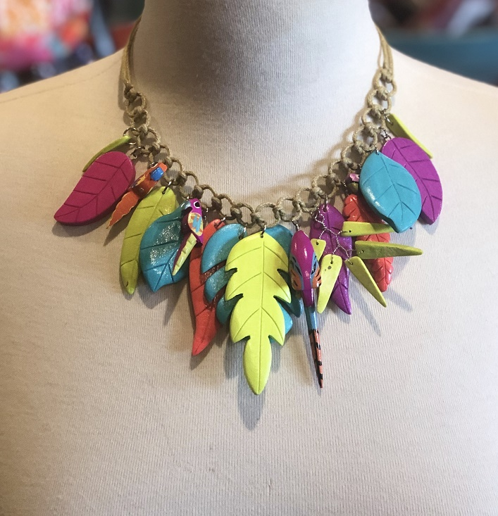 Rainbow Parrot Necklace