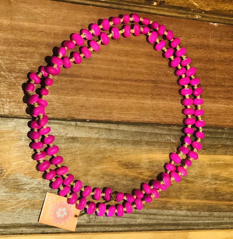 Jellybean Necklace Magenta