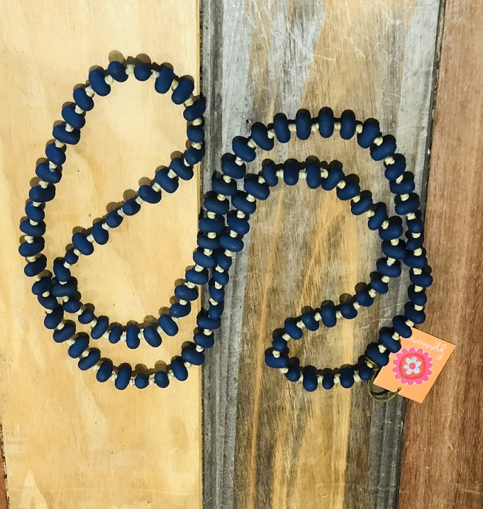 Jellybean Necklace Indigo