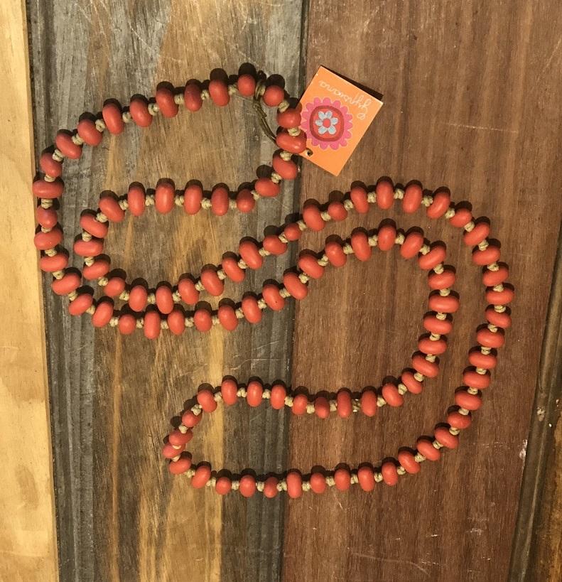 Jellybean Necklace Orange Red