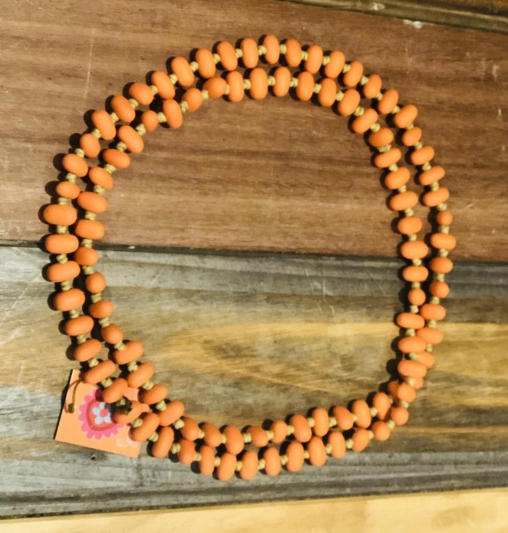 Jellybean Necklace Saffron