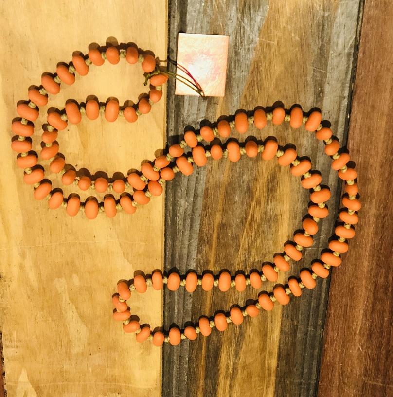 Jellybean Necklace Tangerine