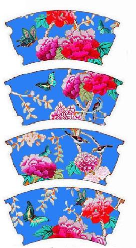 Cornflower Blue Bird Mugs Design
