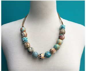Turquoise and Mustad Patchwork Necklace