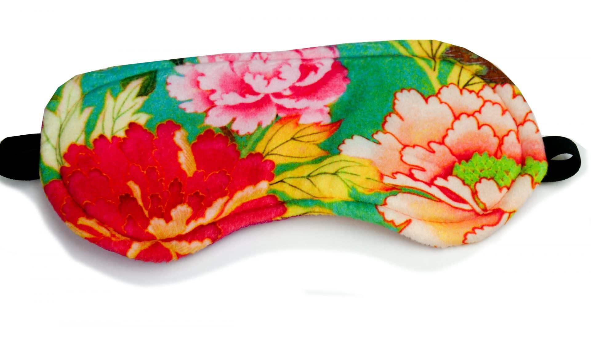 Velvet Eye Mask - Kimono Flower