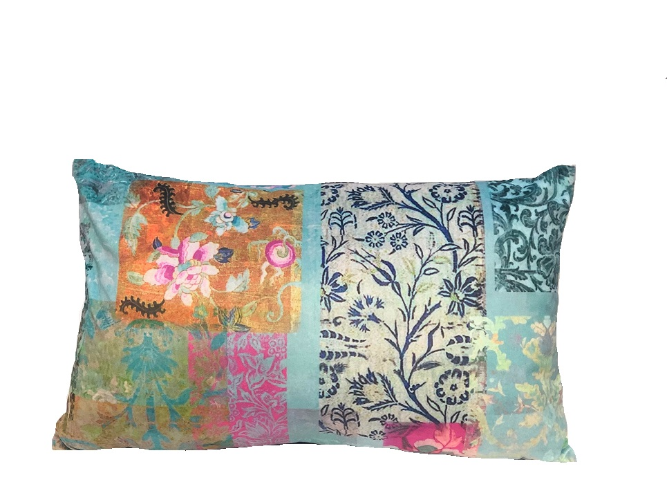 Small velvet cushion venezia Turquoise