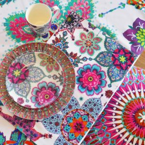 Snowflake Tablecloth : Plates Square Rotated