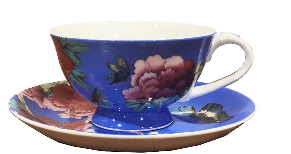 Cornflower Blue Tea cup and saucer