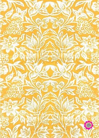 Cotton Tea towel Spice Island Saffron