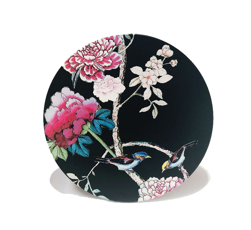 Ceramic Trivet Black Bird