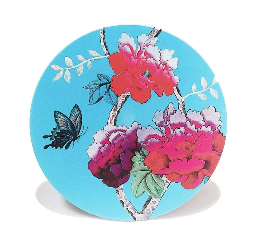 Ceramic Trivet Turquoise BIrd