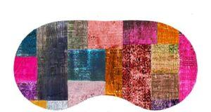 Velvet Eye Mask Velvet Patches Design Purple Pink Teal