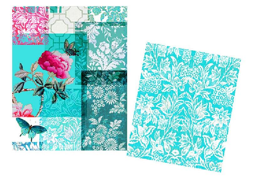 Velvet Set of Drawstring Bags Gazebo Turquoise