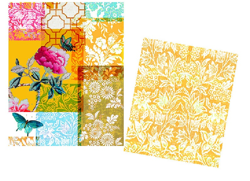 Drawstring Bags set of 2 in Velvet Gazebo Yellow