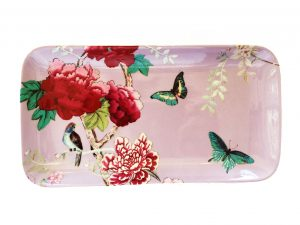 Sandwich Plate Lilac Pink Chinoiserie